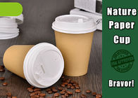 Recyclable Disposable Hot Drink Cups 8 Oz Food Grade With Custom Logo